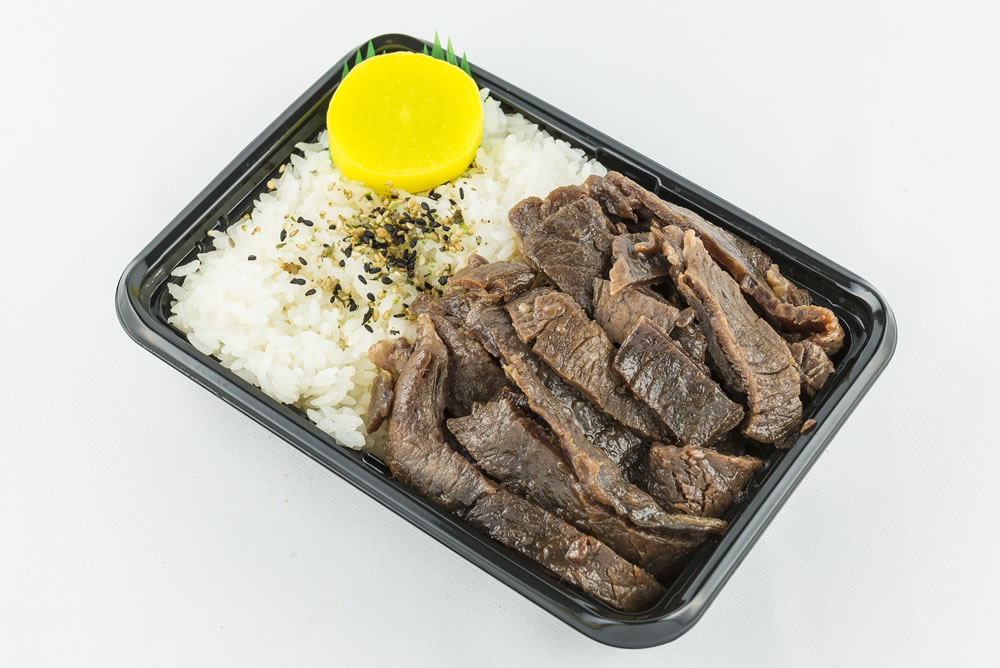 Mini Teriyaki Beef Bento: Maui Cattle beef marinated in TJ's teriyaki sauce. Thinly sliced and cut into bite sized pieces. $5.65