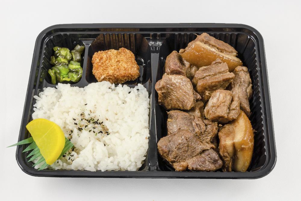 Friday - Pork Adobo Bento: Marinated pork simmered in a shoyu vinegar sauce. $6.25