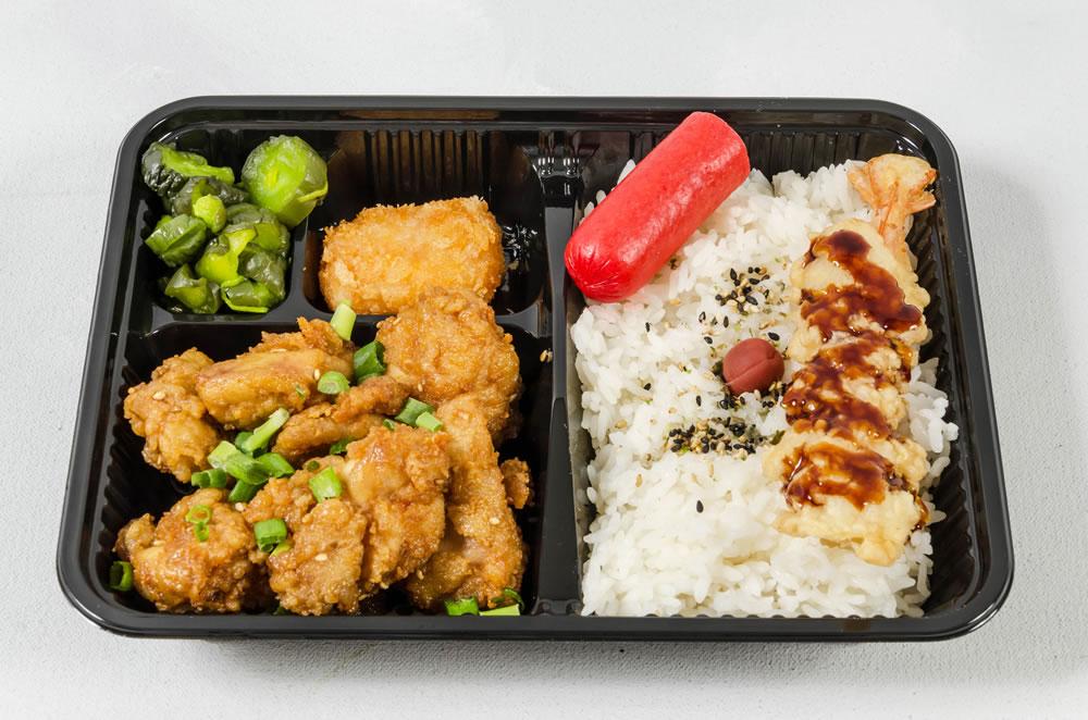 Yakitori Chicken & Korean Chicken Combination. $6.95