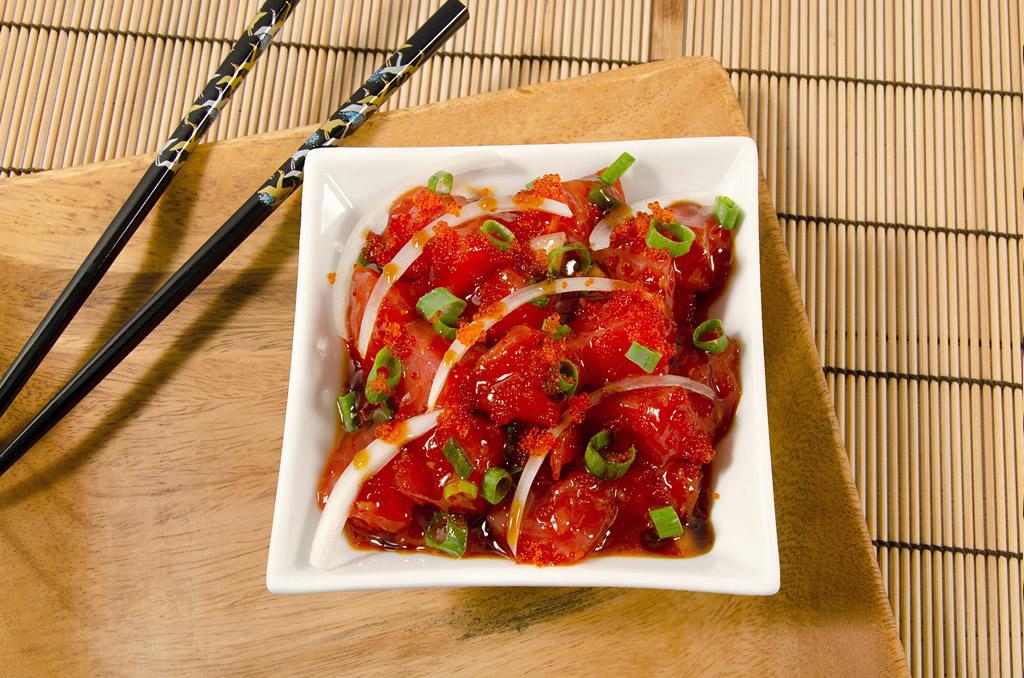 Sweet and spicy ahi poke